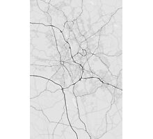Stoke, England Map. (Black on white) Photographic Print