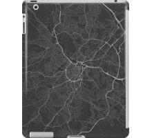 Sheffield, England Map. (White on black) iPad Case/Skin