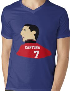 Cantona Mens V-Neck T-Shirt