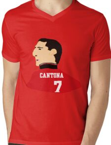Cantona Mens V-Neck T-Shirt