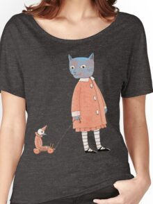 Cat Child Takes a Walk Women's Relaxed Fit T-Shirt