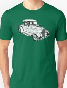 Model A Ford Pickup Hot Rod Illustration T-Shirt