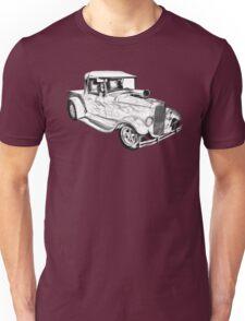 Model A Ford Pickup Hot Rod Illustration Unisex T-Shirt