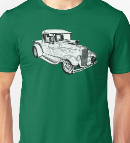 Model A Ford Pickup Hot Rod Illustration Unisex T-Shirt