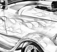 Model A Ford Pickup Hot Rod Illustration Sticker