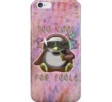 Too Cool for Fools v02 iPhone Case/Skin