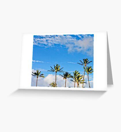 Baldwin Palm Tree Skies Greeting Card