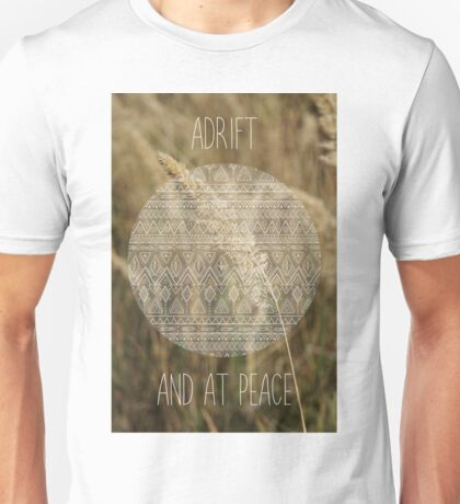 Adrift and at peace Unisex T-Shirt