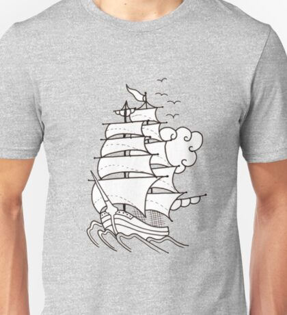 Sailing Ship  Flash Tattoo Unisex T-Shirt