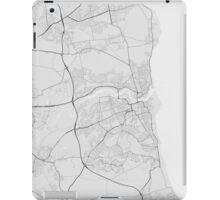 Sunderland, England Map. (Black on white) iPad Case/Skin