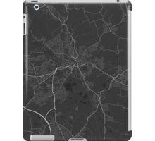Wigan, England Map. (White on black) iPad Case/Skin
