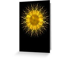 Sol - Fractal Art Design Greeting Card