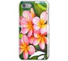 Pink Plumeria Tree King duvet iPhone Case/Skin