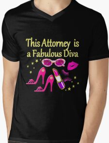 PINK THIS ATTORNEY IS FABULOUS DIVA DESIGN Mens V-Neck T-Shirt