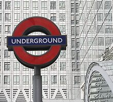 London Underground at Canary Wharf by Allen Lucas