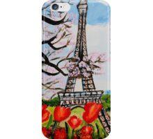 Tulips over Paris iPhone Case/Skin