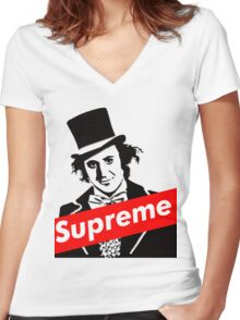 Gene Wilder Women's Fitted V-Neck T-Shirt