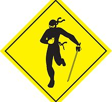 Caution: Ninja Crossing by outofthedust