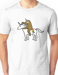 Slothicorn Riding Unicorn Unisex T-Shirt