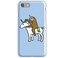 Slothicorn Riding Unicorn iPhone Case/Skin