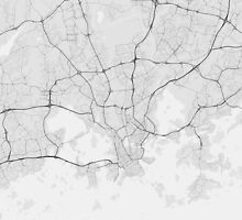 Helsinki, Finland Map. (Black on white) by Graphical-Maps