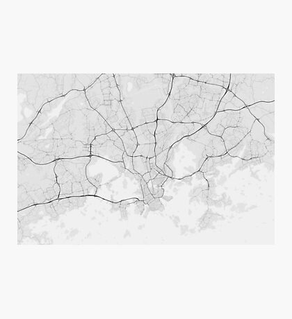Helsinki, Finland Map. (Black on white) Photographic Print