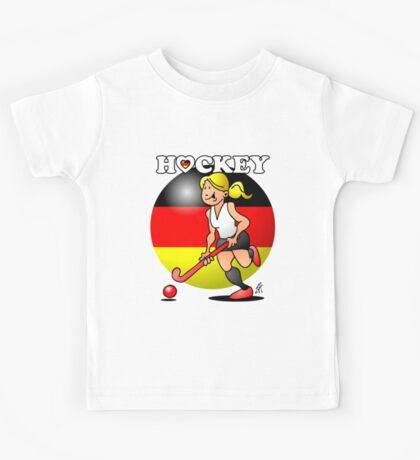 Hockey lady of the German field hockey team Kids Tee