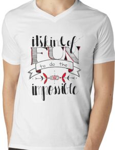 Fun to do the Impossible Mens V-Neck T-Shirt