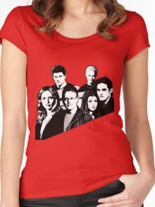 A BTVS motif Women's Fitted Scoop T-Shirt
