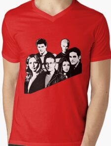 A BTVS motif Mens V-Neck T-Shirt