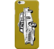 Checkered Taxi Cab Illustrastion iPhone Case/Skin