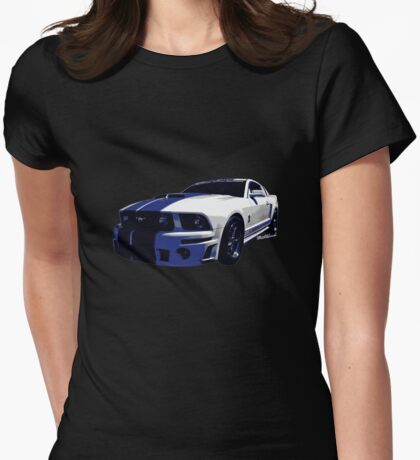 Mustang GT 500 Ready for Mustangs Across America Drive Womens Fitted T-Shirt