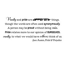 Vanity and Pride (with title & author) Photographic Print