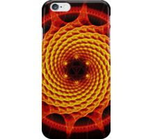 Merkaba Spiral Mandala Red   ( Fractal Geometry ) iPhone Case/Skin