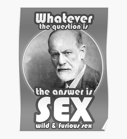 The answer is sex Poster