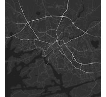Turku, Finland Map. (White on black) Photographic Print