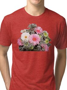 Bunch of Colourful Flowers Tri-blend T-Shirt