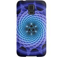 Merkaba Spiral Mandala Blue  ( Fractal Geometry ) Samsung Galaxy Case/Skin
