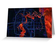 Dark map of Jacksonville Greeting Card
