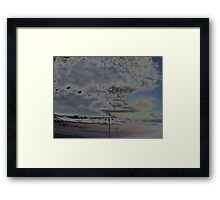 the skys above  Framed Print