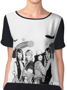 Exclusive ABBA n°1 B&W design. Made with LOVE! Women's Chiffon Top