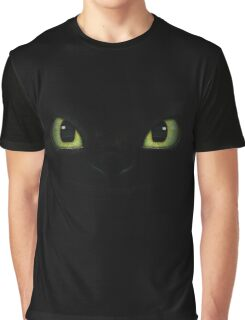 "Toothless' Eyes T-shirt  from the Dreamwork's motion picture ""How To Train Your Dragon"" fan art Graphic T-Shirt"