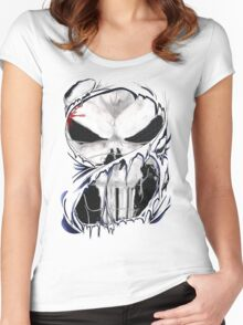 torn skull tee Women's Fitted Scoop T-Shirt