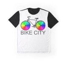 Bike City Concept Illustration Graphic T-Shirt