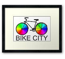 Bike City Concept Illustration Framed Print
