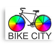 Bike City Concept Illustration Canvas Print
