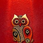 Cute Retro Beads Owl by Johnny Sunardi