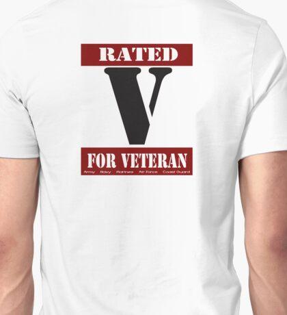 Rated V for Veteran Unisex T-Shirt