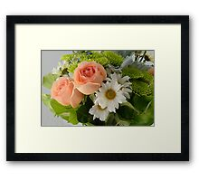 Daisies and roses Framed Print