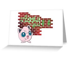 Jigglypuff graffiti Greeting Card